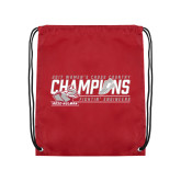 Cardinal Drawstring Backpack-2017 Womens Cross Country Champions