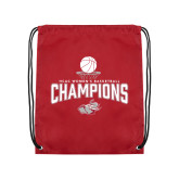 Cardinal Drawstring Backpack-Womens Basketball Champions