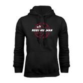 Black Fleece Hoodie-Rose-Hulman Basketball w/ Lined Ball