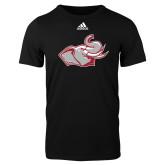Adidas Black Logo T Shirt-Rosie