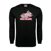 Black Long Sleeve TShirt-Rosie with Rose-Hulman
