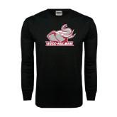 Black Long Sleeve TShirt-Rosie with Rose-Hulman