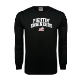 Black Long Sleeve TShirt-Fightin Engineers Arched