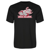 Performance Black Tee-Rosie with Rose-Hulman