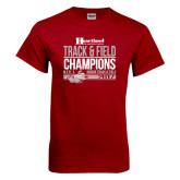 Cardinal T Shirt-Heartland Conference Tournament Champions Mens Indoor Track and Field 2017