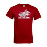 Cardinal T Shirt-Rosie with Rose-Hulman