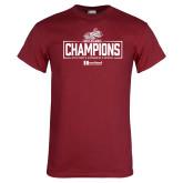 Cardinal T Shirt-Mens Swimming and Diving Champions