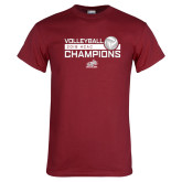 Cardinal T Shirt-2018 HCAC Volleyball Champions