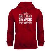 Cardinal Fleece Hoodie-HCAC Tournament Champions - Womens Basketball Stacked