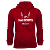 Cardinal Fleece Hoodie-2017 HCAC Mens Outdoor Track and Field Champions