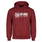 Cardinal Fleece Hoodie-2017 Womens Cross Country Champions