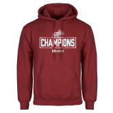 Cardinal Fleece Hoodie-Mens Swimming and Diving Champions
