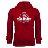 Cardinal Fleece Hoodie-Heartland Conference Tournament Champions Womens Tennis 2016
