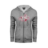 ENZA Ladies Grey Fleece Full Zip Hoodie-Rosie