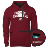 Contemporary Sofspun Cardinal Hoodie-Fightin Engineers Arched
