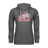 Adidas Climawarm Charcoal Team Issue Hoodie-Rosie with Rose-Hulman