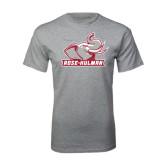Grey T Shirt-Rosie with Rose-Hulman