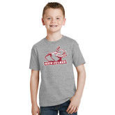 Youth Grey T-Shirt-Rosie with Rose-Hulman