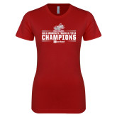 Next Level Ladies SoftStyle Junior Fitted Cardinal Tee-Womens Track and Field Champions