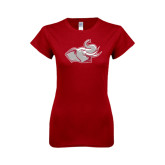 Next Level Ladies SoftStyle Junior Fitted Cardinal Tee-Rosie