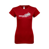 Next Level Ladies SoftStyle Junior Fitted Cardinal Tee-Track & Field