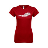 Next Level Ladies SoftStyle Junior Fitted Cardinal Tee-Grandma
