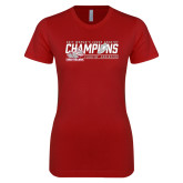 Next Level Ladies SoftStyle Junior Fitted Cardinal Tee-2017 Womens Cross Country Champions