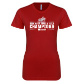 Next Level Ladies SoftStyle Junior Fitted Cardinal Tee-Mens Track and Field Champions
