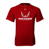 Under Armour Cardinal Tech Tee-Rose-Hulman Track & Field w/ Wings
