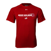 Under Armour Cardinal Tech Tee-Rose-Hulman Baseball w/ Flying Ball