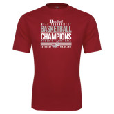 Syntrel Performance Cardinal Tee-HCAC Tournament Champions - Womens Basketball Stacked