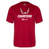 Performance Cardinal Tee-2017 HCAC Mens Outdoor Track and Field Champions