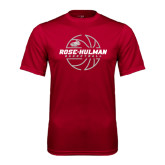 Performance Cardinal Tee-Rose-Hulman Basketball w/ Lined Ball
