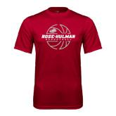 Syntrel Performance Cardinal Tee-Rose-Hulman Basketball w/ Lined Ball