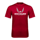 Performance Cardinal Tee-Rose-Hulman Track & Field w/ Wings