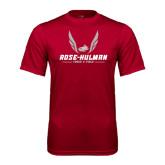 Syntrel Performance Cardinal Tee-Rose-Hulman Track & Field w/ Wings