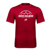 Performance Cardinal Tee-Rose-Hulman Soccer Stacked w/ Ball