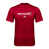 Performance Cardinal Tee-Rose-Hulman Baseball w/ Flying Ball