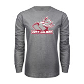 Grey Long Sleeve T Shirt-Rosie with Rose-Hulman