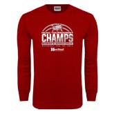 Cardinal Long Sleeve T Shirt-HCAC Tournament Champs - Womens Basketball 2017 Half Ball