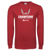 Cardinal Long Sleeve T Shirt-2017 HCAC Mens Outdoor Track and Field Champions
