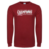 Cardinal Long Sleeve T Shirt-2017 Mens Cross Country Champions