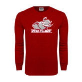 Cardinal Long Sleeve T Shirt-Rosie with Rose-Hulman