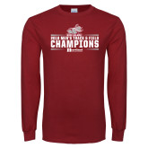 Cardinal Long Sleeve T Shirt-Mens Track and Field Champions