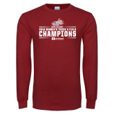 Cardinal Long Sleeve T Shirt-Womens Track and Field Champions