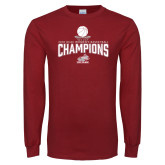 Cardinal Long Sleeve T Shirt-Womens Basketball Champions