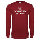 Cardinal Long Sleeve T Shirt-Mens Tennis Champions