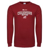 Cardinal Long Sleeve T Shirt-2018 Mens Cross Country Champions