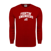 Cardinal Long Sleeve T Shirt-Fightin Engineers Arched