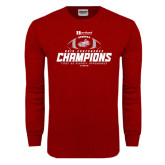 Cardinal Long Sleeve T Shirt-Heartland Conference Champions Football 2016